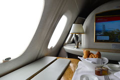 Emirates Airbus A380 interior Royalty Free Stock Image