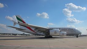 Emirates Airbus A380 stock footage