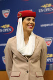 Emirates Airline flight attendants at the Billie Jean King National Tennis Center during US Open 2015 Stock Image