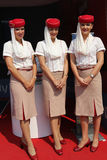 Emirates Airline flight attendants at the Billie Jean King National Tennis Center during US Open 2015 Stock Photography