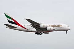 Emirates Airlines Airbus A380 Royalty Free Stock Photos