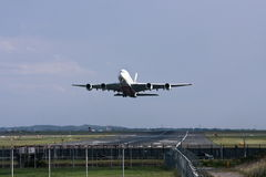 Emirates Airlines Airbus A380 takeing off. Royalty Free Stock Photography