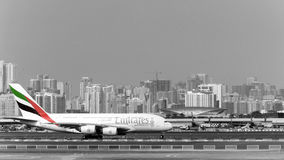 Emirates Airlines Airbus A380 aircraft Royalty Free Stock Photography