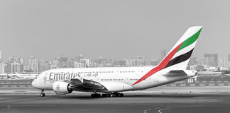 Emirates Airlines Airbus A380 aircraft Stock Photo