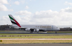 Emirates Airlines Airbus A380 Stock Photography