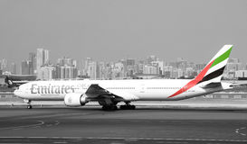 Emirates Airlines Boeing 777 aircraft Royalty Free Stock Image