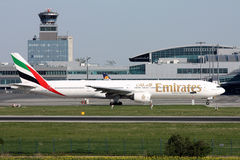Emirates Airlines Boeing B777 Royalty Free Stock Photos