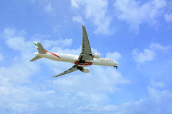 Emirates Airlines Flight. Royalty Free Stock Photography