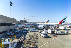 Emirates Airlines jet Boeing 767 Royalty Free Stock Photography