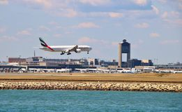 Emirates Airlines Plane royalty free stock photography