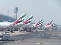 Emirates Airlines terminal at Dubai International Airport Stock Image