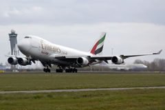 Emirates Boeing 747 takeoff Royalty Free Stock Image