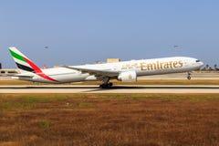 Emirates Boeing 777 taking off Stock Photography