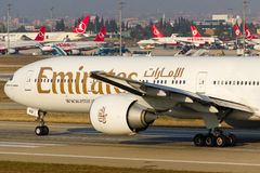 Emirates Boeing 777 Royalty Free Stock Photography