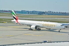 Emirates Boeing 777 view Royalty Free Stock Images