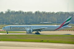 Emirates Boeing 777 view Royalty Free Stock Image