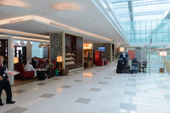 Emirates business class lounge Stock Image