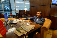 Emirates business class lounge interior Stock Photography