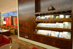 Emirates business class lounge interior Royalty Free Stock Photography