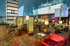 Emirates business class lounge interior Royalty Free Stock Photos