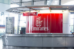 Emirates check in counters Stock Images