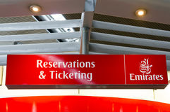 Emirates check in counters Royalty Free Stock Image