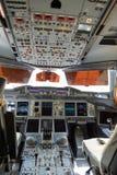 Emirates A380-800 cockpit interior Stock Photos