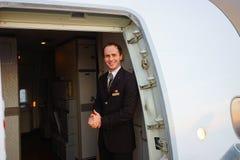 Emirates crew member of Boeing-777 Stock Image