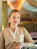 Emirates crew member Stock Images