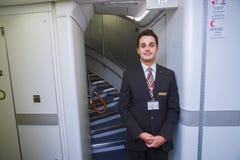 Emirates crew member Royalty Free Stock Images