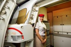 Emirates crew member Royalty Free Stock Image