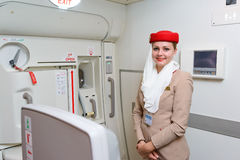 Emirates crew member Royalty Free Stock Photo