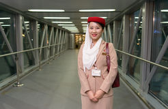 Emirates crew member Royalty Free Stock Images