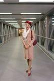 Emirates crew member Stock Image