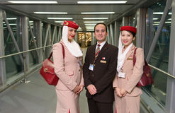 Emirates crew member Stock Photo
