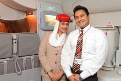 Emirates crew members Royalty Free Stock Image