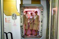 Emirates crew members Stock Photos