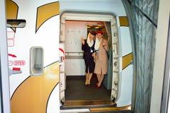 Emirates crew members Stock Image
