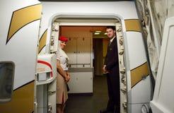 Emirates crew members Royalty Free Stock Photo