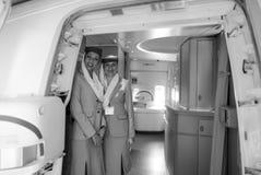 Emirates crew members Royalty Free Stock Photos