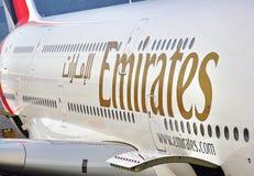 emirates för flygbuss a380 Arkivfoton