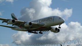 emirates för flygbuss a380 Arkivbild