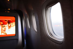 Emirates first class Boeing-777 interior Stock Image