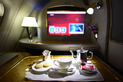 Emirates first class interior Royalty Free Stock Image