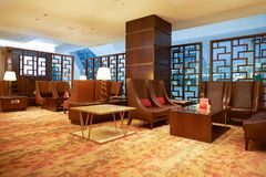Emirates first class lounge Royalty Free Stock Photography