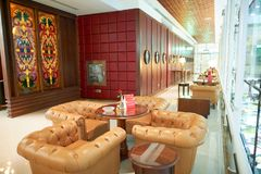 Emirates first class lounge Stock Images