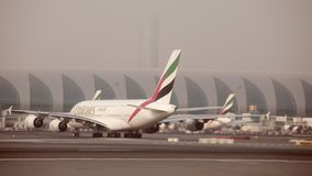 Emirates flight stock video footage