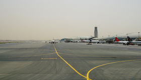 Emirates flights at Dubai Airport Royalty Free Stock Photo