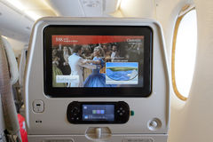 Emirates A380-800 interior Stock Image