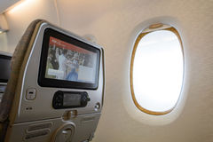 Emirates A380-800 interior Royalty Free Stock Images